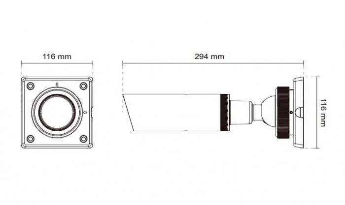VIVOTEK IP8332-C rozměry