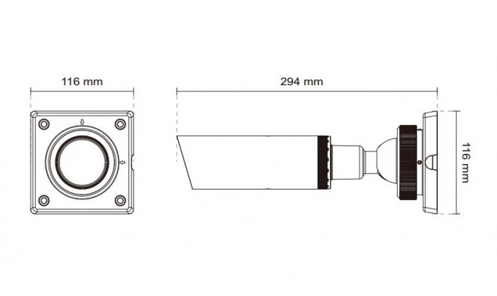 VIVOTEK IP8337H-C rozměry