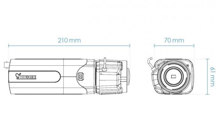 Vnitřní IP kamera VIVOTEK IP9165-HT rozměry