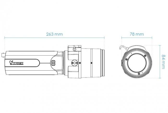 VIVOTEK IP9165-LPC 9 - 50 mm rozměry