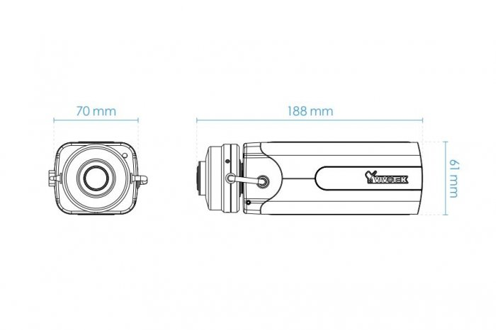 Vnitřní IP kamera VIVOTEK IP9167-HT rozměry