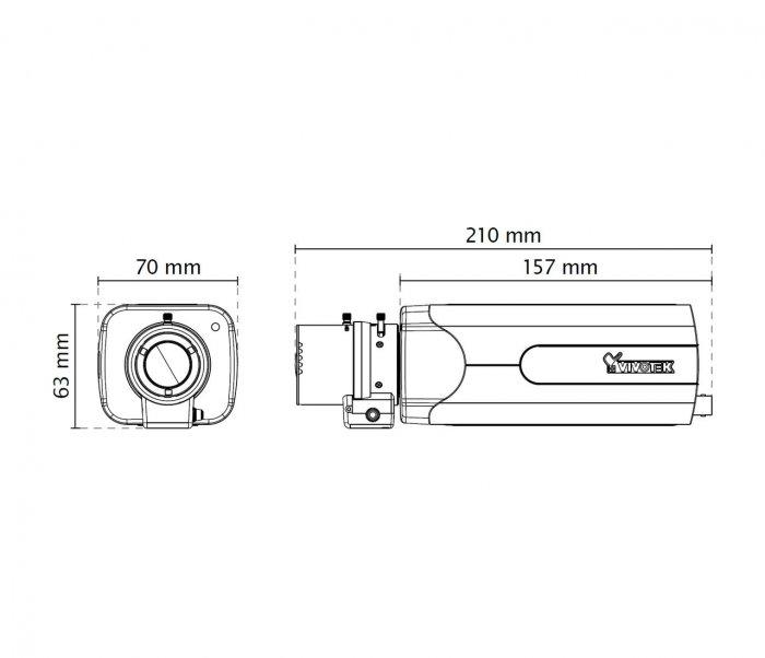VIVOTEK IP9181-H rozměry