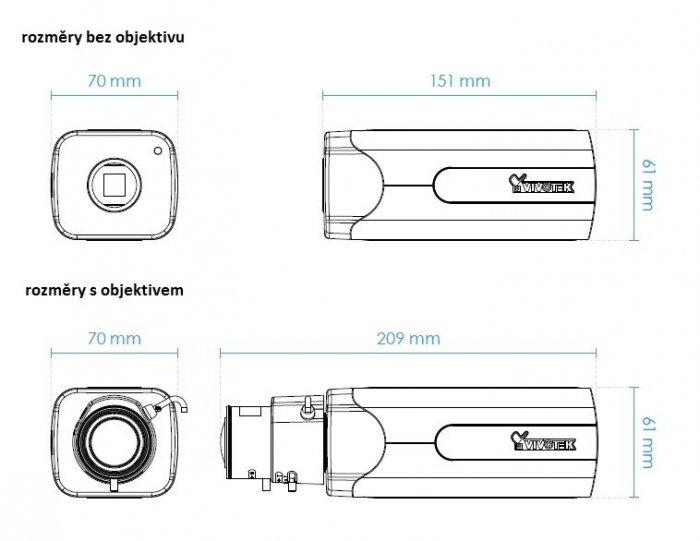 Vnitřní IP kamera VIVOTEK IP9191-HP rozměry