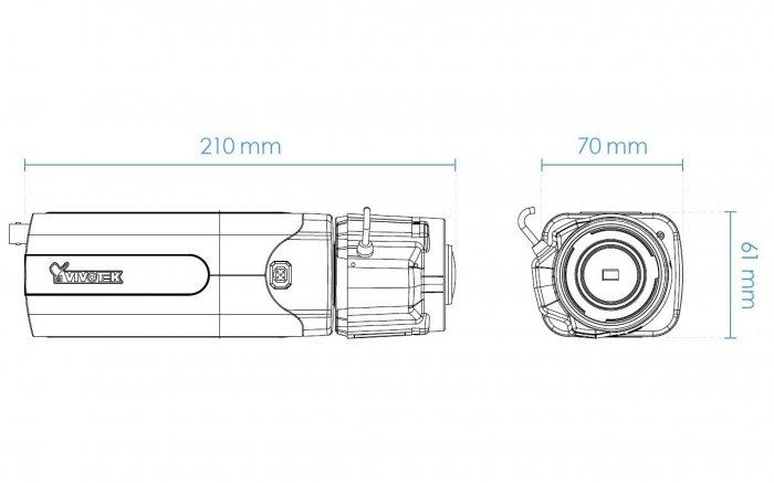 Vnitřní IP kamera VIVOTEK IP9191-HT rozměry