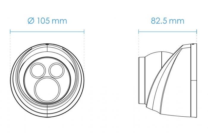Venkovní IP kamera VIVOTEK IT9360-H rozměry