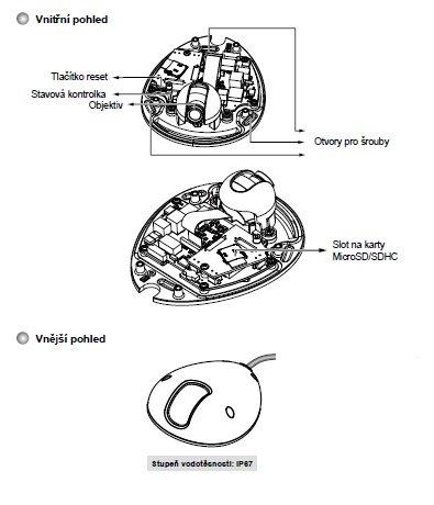 VIVOTEK MD8562 fyzicky popis