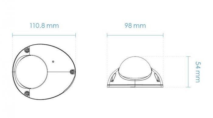 Venkovní mobilní IP kamera VIVOTEK MD9560-HF2 rozměry