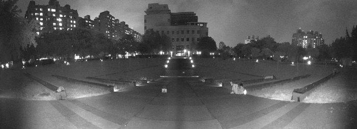 Venkovní IP kamera VIVOTEK MS9390-HV ukázka záběru v noci
