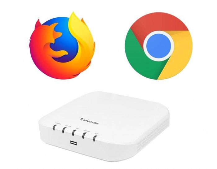 Záznamové zařízení VIVOTEK ND9312 Chrome a Firefox