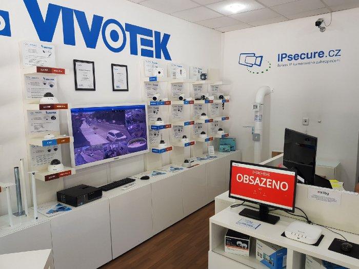 VIVOTEK počítání vstupů - obsazeno showroom VIVOTEK