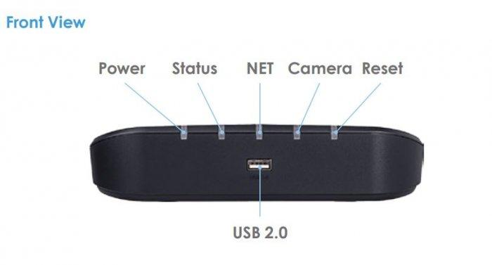 VIVOTEK RX9401 popis přední strana