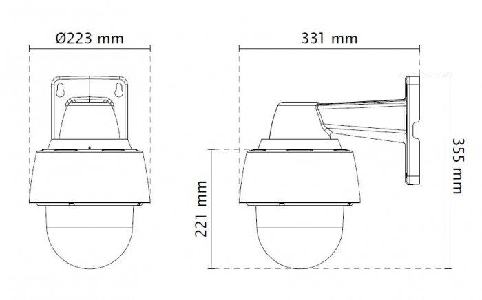 VIVOTEK SD9361-EHL rozměry