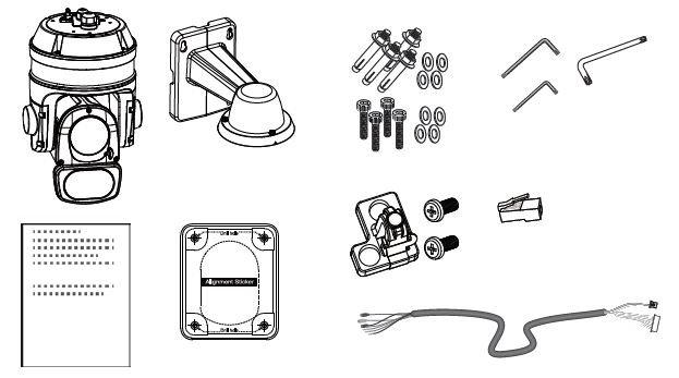 Venkovní otočná IP kamera VIVOTEK SD9364-EHL v2 obsah balení