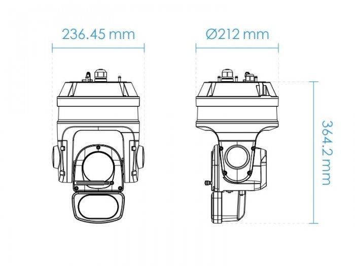 VIVOTEK SD9366-EHL rozměry