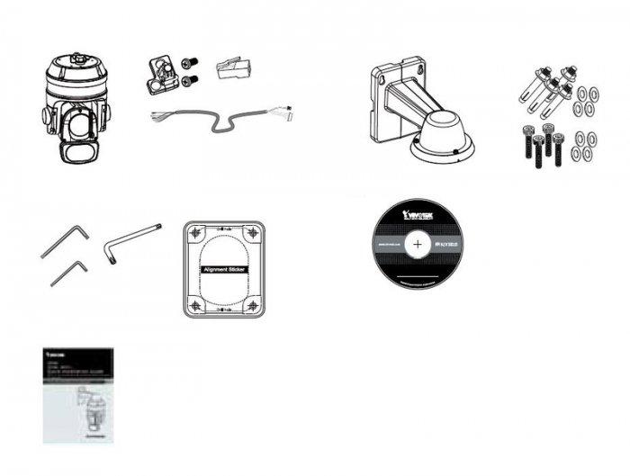 VIVOTEK SD9366-EHL obsah balení
