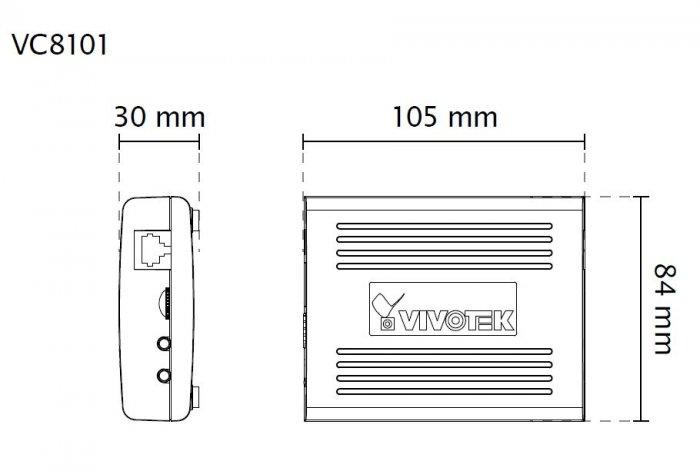VIVOTEK VC8101-M1 rozměry