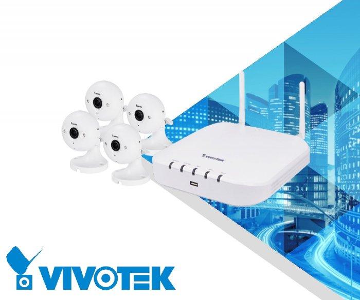 Vnitřní bezdrátový kamerový systém VIVOTEK 4x IP8160-W + ND8212W